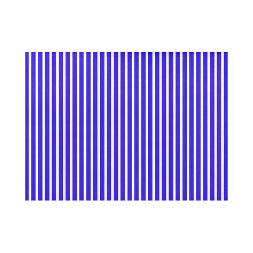 Blue White Candy Striped Placemat 14'' x 19''