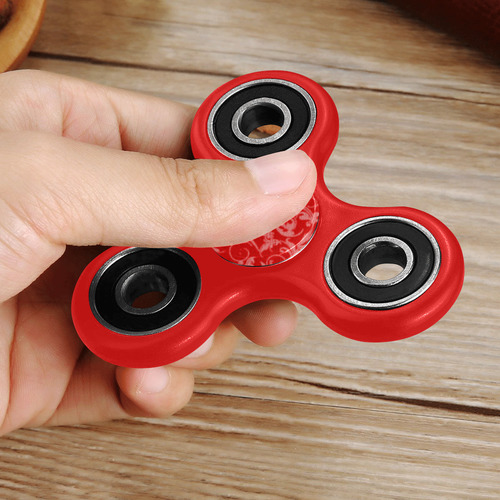 Vintage Swirls Coral Red Fidget Spinner
