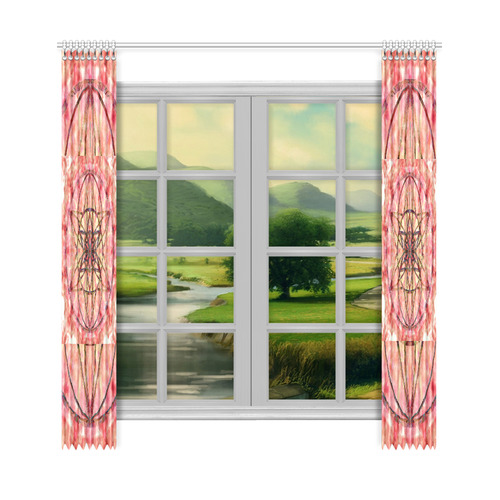 """protection- vitality and awakening by Sitre haim Window Curtain 50""""x108""""(Two Piece)"""