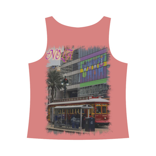 CANAL STREET All Over Print Tank Top for Women (Model T43)