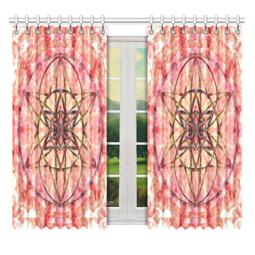 """protection- vitality and awakening by Sitre haim Window Curtain 52"""" x 63""""(One Piece)"""