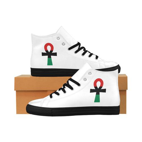 623c23843f6c RBG Ankh HIgh Top Shoe Aquila High Top Microfiber Leather Women s Shoes  Large Size (Model 032)