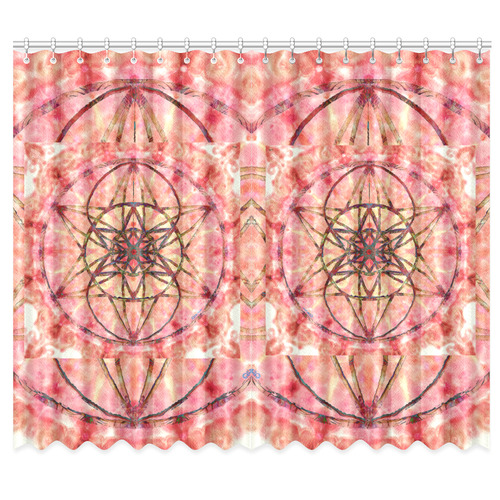 """protection- vitality and awakening by Sitre haim Window Curtain 50""""x84""""(Two Piece)"""