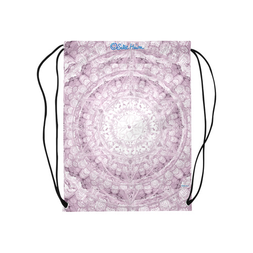 "Protection-Jerusalem by love-Sitre Haim Medium Drawstring Bag Model 1604 (Twin Sides) 13.8""(W) * 18.1""(H)"