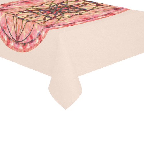 "protection- vitality and awakening by Sitre haim Cotton Linen Tablecloth 60""x 104"""