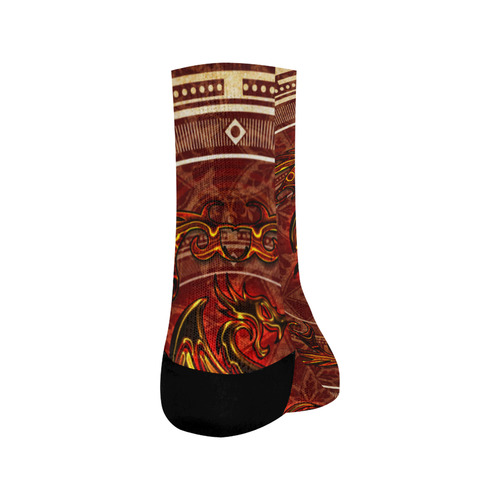 Awesome draogn, red colors Crew Socks