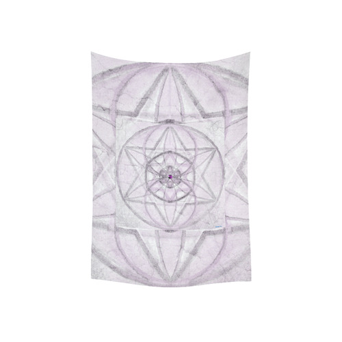 """Protection- transcendental love by Sitre haim Cotton Linen Wall Tapestry 40""""x 60"""""""
