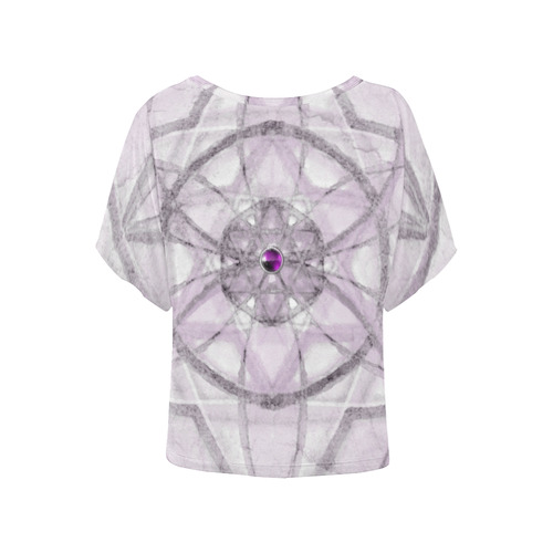 Protection- transcendental love by Sitre haim Women's Batwing-Sleeved Blouse T shirt (Model T44)