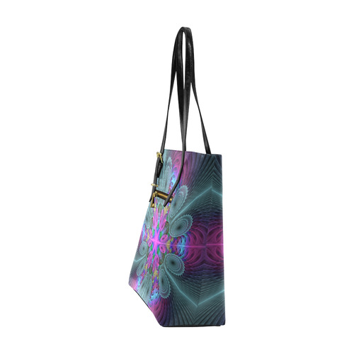 Mandala From Center Colorful Fractal Art With Pink Euramerican Tote Bag/Small (Model 1655)