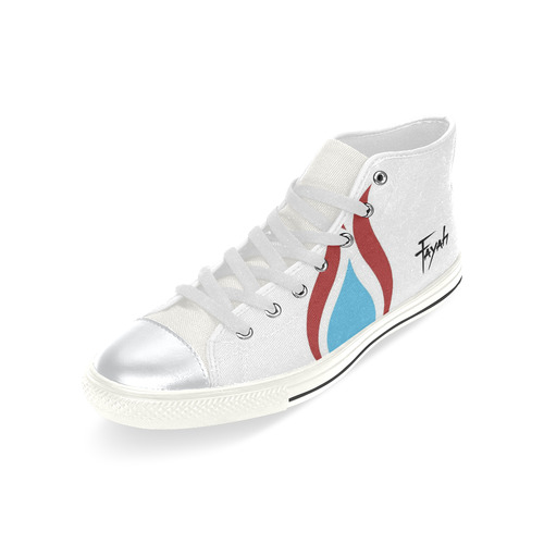 Fayah Fit White High Top Canvas Shoes for Kid (Model 017)