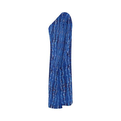 Denim Batik Bateau A-Line Skirt (D21)