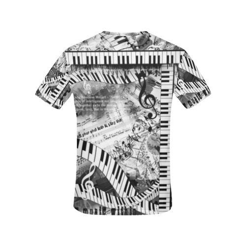 3f63e1203 ... Piano Quotes T Shirt Music Art Shirt by Juleez All Over Print T-Shirt  for ...