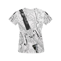 eba8c71ad Violin Graphic Tee Music Art T Shirt by Juleez All Over Print T-Shirt for