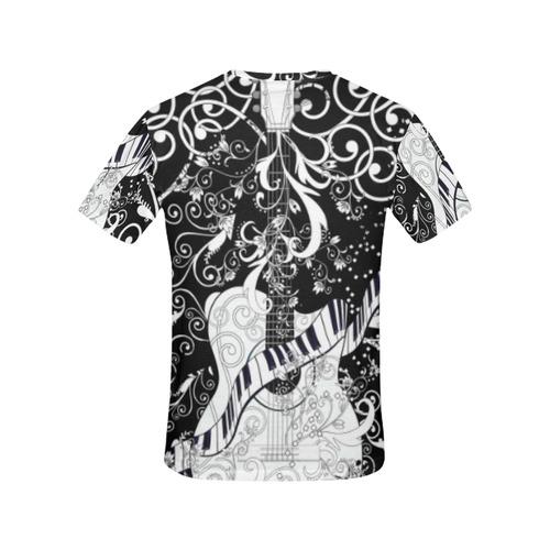 1054ec9c6 ... Ladies Guitar Music Art T Shirt by Juleez All Over Print T-Shirt for  Women ...