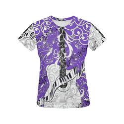 b09aa30c9 Ladies Guitar Music Art T Shirt by Juleez All Over Print T-Shirt for Women