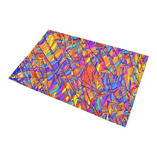 Bath Rug Color Fractal Bright Graphic Print Bath Rug 20''x 32''