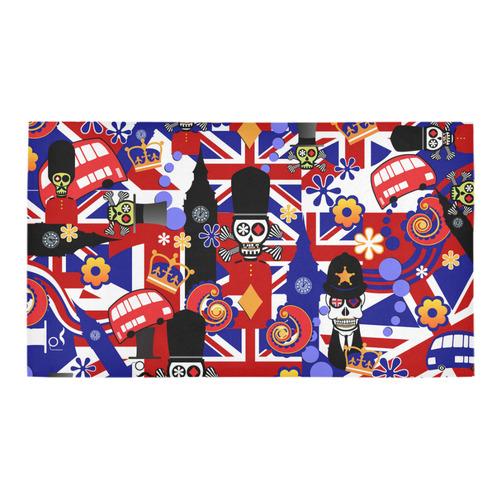 Bath Rug UK London Flag Brit Sugar Skull Bath Rug 16''x 28''