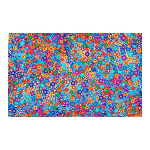 Bath Rug Colorful Carnival Colors Print Bath Rug 20''x 32''