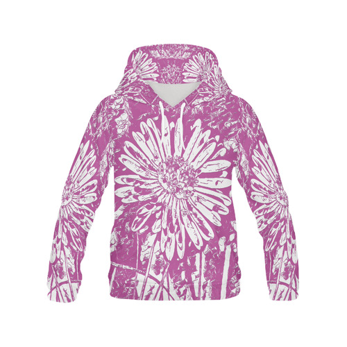 FLOWER PINK II All Over Print Hoodie for Women (USA Size) (Model H13)