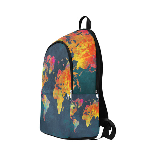 world map 16 Fabric Backpack for Adult (Model 1659)