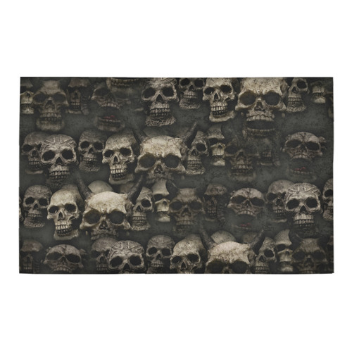 Crypt of the devilish dead skull Bath Rug 20''x 32''