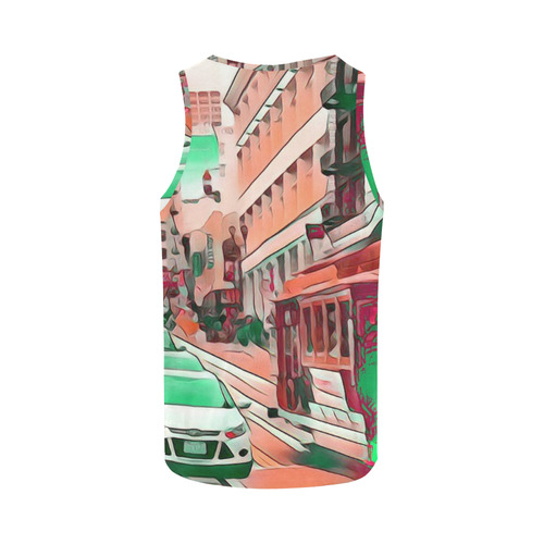 Impressive Travel -San Francisco by JamColors All Over Print Tank Top for Men (Model T43)
