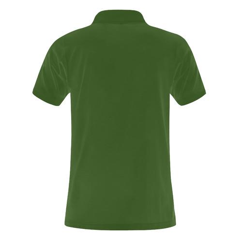 protection through an indigo wave Men's Polo Shirt (Model T24)