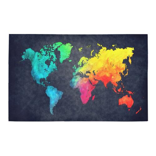 world map Bath Rug 20''x 32''