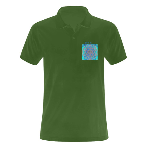 protection in blue harmony Men's Polo Shirt (Model T24)