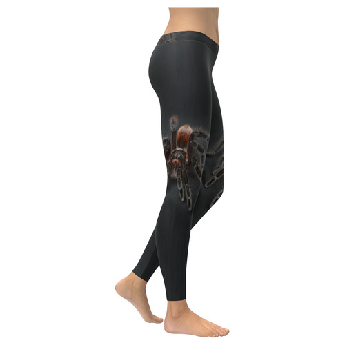 Tarantel Spider Painting Low Rise Leggings (Invisible Stitch) (Model L05)