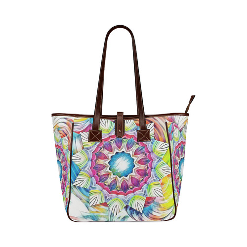 Sunshine Feeling Mandala Classic Tote Bag (Model 1644)