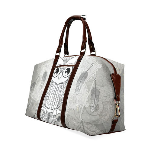 Cute owl, mandala design Classic Travel Bag (Model 1643) Remake