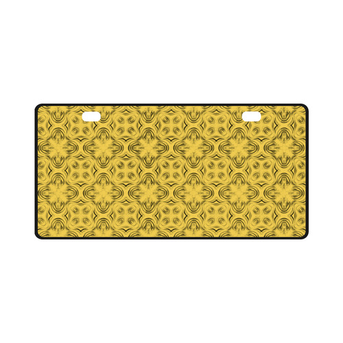 Primrose Yellow Shadows License Plate