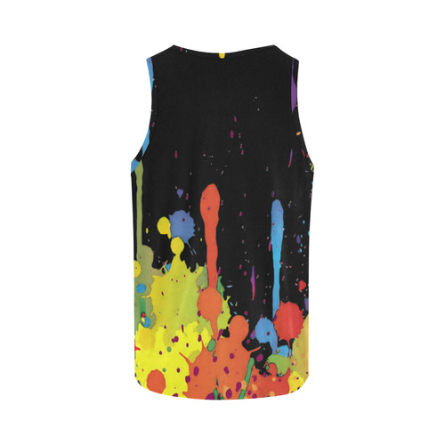 Crazy multicolored running SPLASHES All Over Print Tank Top for Women (Model T43)