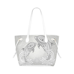 90dc49c28c7a Best Dolphin Clover Canvas Tote Bag (1661)   ArtsAdd
