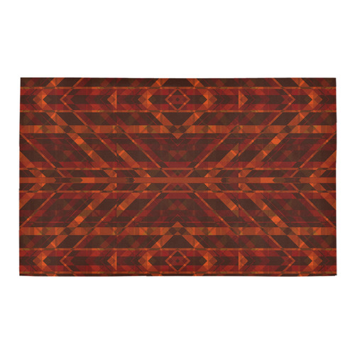 Sci Fi Horror Geometric design Bath Rug 20''x 32''
