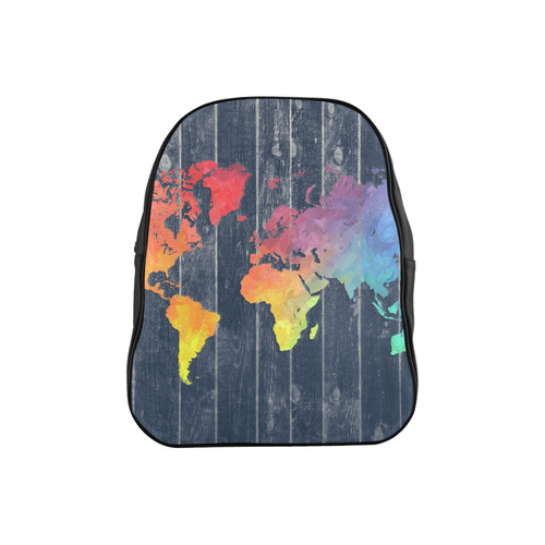world map School Backpack (Model 1601)(Medium)