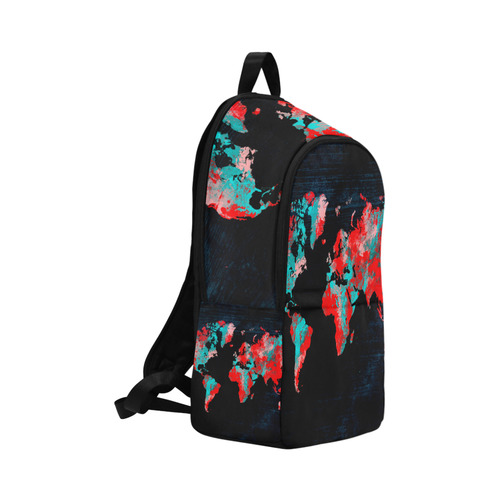 world map Fabric Backpack for Adult (Model 1659)