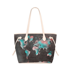 Old world map canvas bag gifts artsadd world map clover canvas tote bag model 1661 gumiabroncs Choice Image