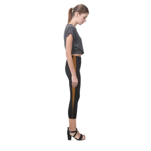 Black Tiger Pebbles Capri Legging (Model L02)