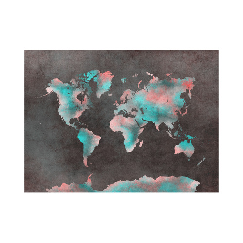 world map Placemat 14'' x 19''