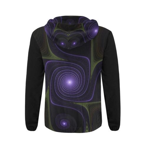 Fractal fantasia 9 mens hoodies All Over Print Full Zip Hoodie for Men (Model H14)