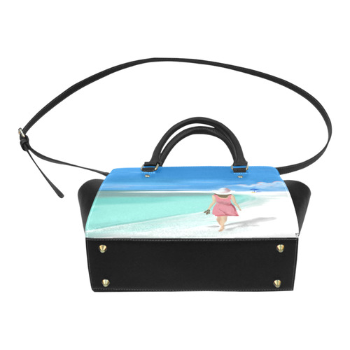 Girl on Beach Classic Shoulder Handbag (Model 1653)