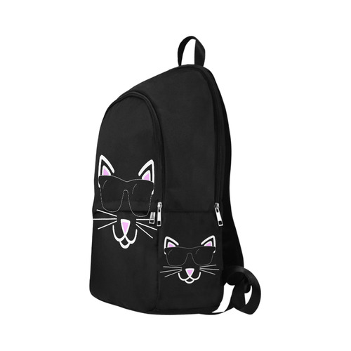 Cool Cat Wearing Sunglasses Fabric Backpack for Adult (Model 1659)