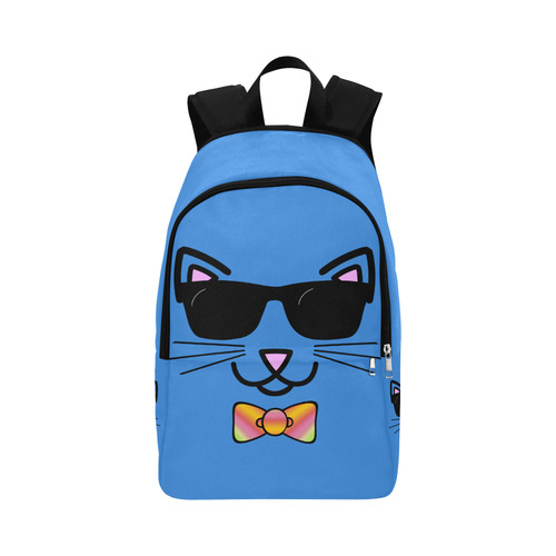 e4733221ff Cool Cat Wearing Bow Tie and Sunglasses Fabric Backpack for Adult (Model  1659)