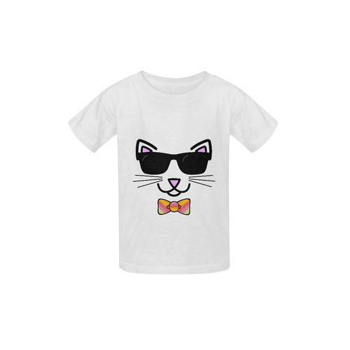 f9131db756 Cool Cat Wearing Bow Tie and Sunglasses Kid s Classic T-shirt (Model T22)