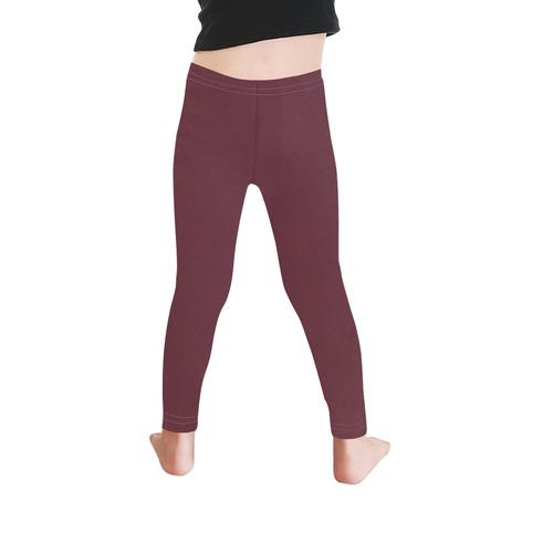 Designer Color Solid Tawny Port Kid's Ankle Length Leggings (Model L06)