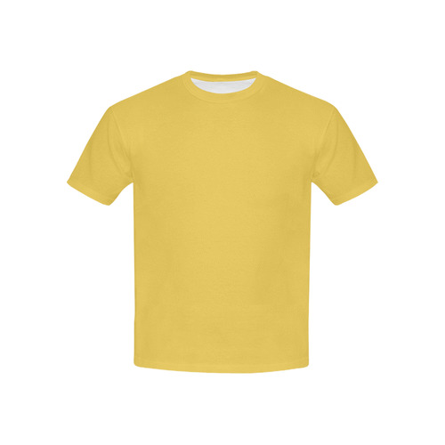 Designer Color Solid Primrose Yellow Kids' All Over Print T-shirt (USA Size) (Model T40)