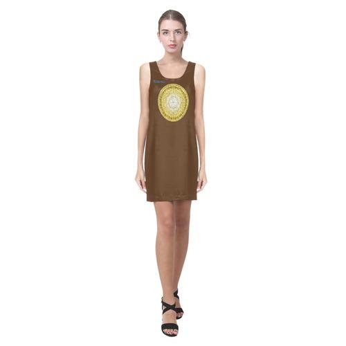 protection from Jerusalem of gold Helen Sleeveless Dress (Model D10)