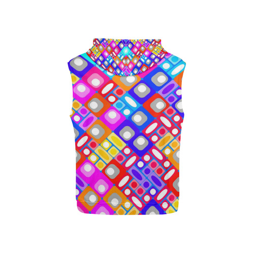 pattern factory 32A by JamColors All Over Print Sleeveless Hoodie for Kid (Model H15)